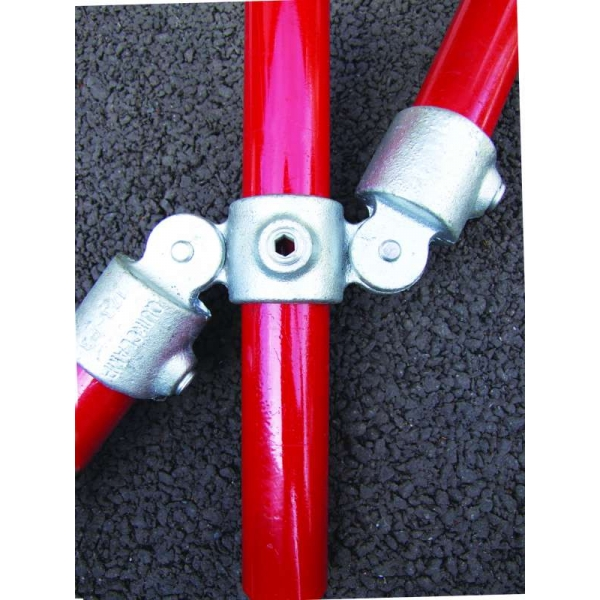 167M Q Clamp DOUBLE MALE SWIVEL Pipe Key Fitting Handrail 2 34mm 3 42mm 4 48mm